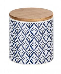 Recipient cu capac multicolor din ceramica si lemn 0,45 L Lorca Mini Wenko
