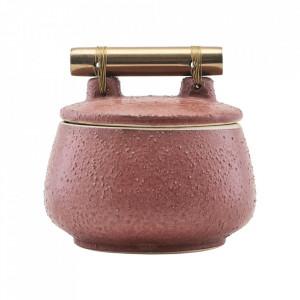 Recipient cu capac roz din ceramica 8x10 Diva House Doctor