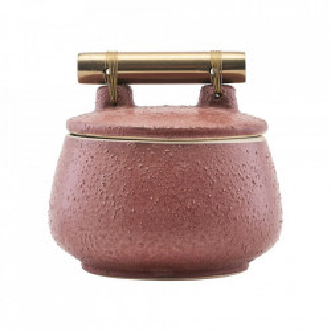 Recipient cu capaca roz din ceramica 8x10 Diva House Doctor