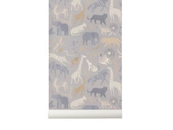 Rola tapet multicolor din hartie 53x1000 cm Safari Ferm Living