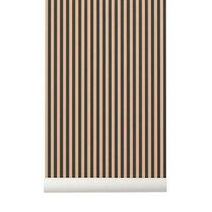 Rola tapet verde/roz 53x1000 cm Thin Lines Ferm Living