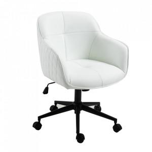 Scaun birou ajustabil alb din piele si metal Euphoria Invicta Interior