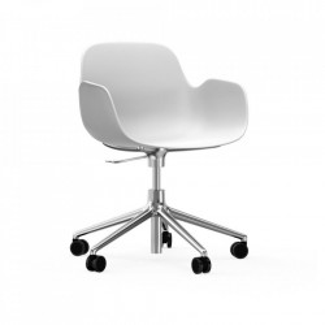 Scaun birou ajustabil rotativ alb din polipropilena Form 5W Normann Copenhagen