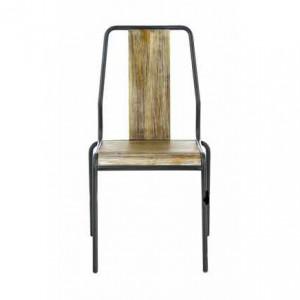 Scaun din lemn si metal Chaise Factory Zago