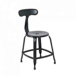 Scaun dining negru din metal Soho Custom Form