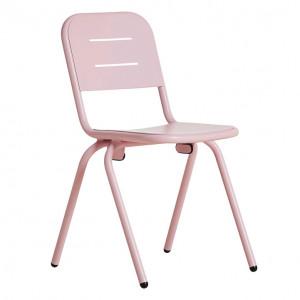 Scaun dining pentru exterior roz din aluminiu Ray Woud