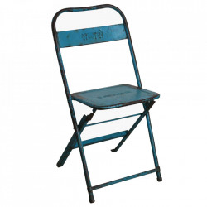 Scaun dining pliabil albastru din fier Bistro Raw Materials