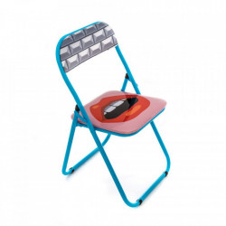 Scaun dining pliabil multicolor din PVC si metal Mouth Seletti