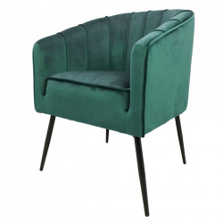 Scaun dining verde din catifea si metal Chester HSM Collection