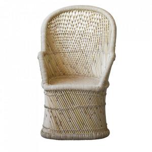 Scaun lounge maro din bambus Alissah Bloomingville