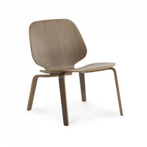 Scaun lounge maro din lemn de nuc My Chair Normann Copenhagen