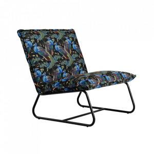 Scaun lounge multicolor din poliester si metal Blue Bird Custom Form