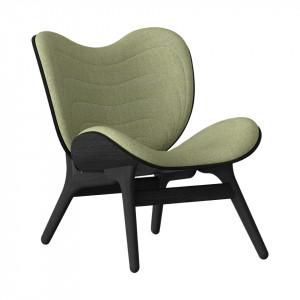 Scaun lounge verde/negru din poliester si lemn A Conversation Piece Umage