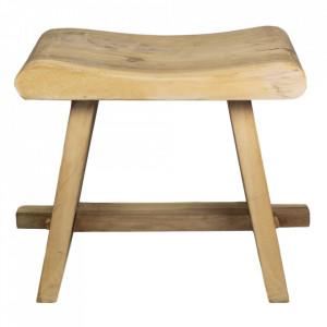 Scaunel maro din lemn Rondo HSM Collection