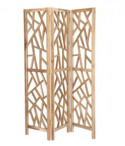 Separator camera maro din lemn de tec 180 cm Avaline Kave Home