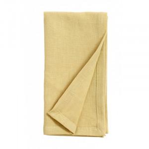 Servetel galben deschis din bumbac si in 40x40 cm Olivia Nordal