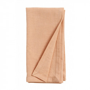 Servetel roz piersica din bumbac si in 40x40 cm Olivia Nordal