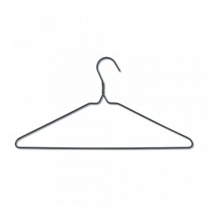 Set 10 umerase gri din metal si plastic Hangers Zeller