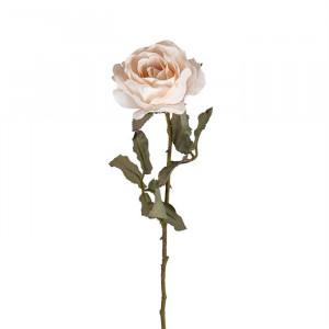 Set 12 flori artificiale crem/verzi din plastic si metal 61 cm Rose Cream Richmond Interiors