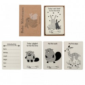 Set 18 carduri pentru copii Nature Bloomingville