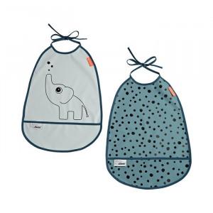 Set 2 bavete albastre din poliuretan Elphee Done by Deer