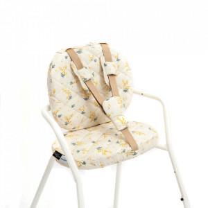 Set 2 perne si 3 accesorii pentru bebelusi multicolore din bumbac Tibu Mimosa Charlie Crane