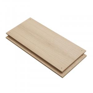 Set 2 rafturi maro din lemn de stejar Elevate C Woud