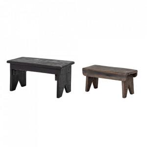 Set 2 scaunele maro din lemn Reymond Bloomingville