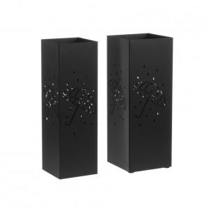 Set 2 suporturi negre din metal pentru umbrele Antonina Unimasa