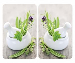 Set 2 suporturi pentru vase fierbinti din sticla Herb Garden Wenko