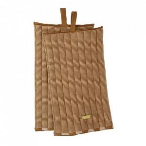 Set 2 suporturi pentru vase fierbinti maro din bumbac Nelle Oyoy