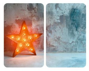 Set 2 tocatoare dreptunghiulare multicolore din sticla 30x52 Universal Star Wenko