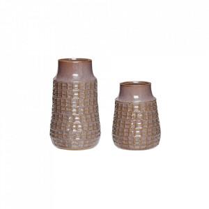 Set 2 vaze mov din ceramica Mendez Vase Hubsch