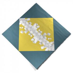 Set 20 servetele multicolor 33x33 cm Afternoon Festoon Tassen
