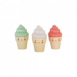 Set 3 decoratiuni multicolore din PVC Ice Creams A Little Lovely Company