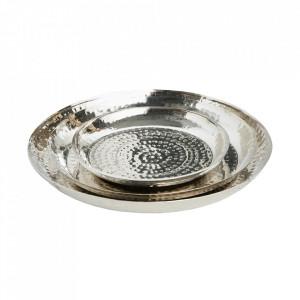 Set 3 tavi decorative argintii din metal Orient Invicta Interior