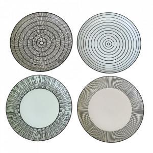 Set 4 farfurii multicolore din ceramica 20 cm Pastel Pols Potten