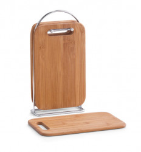 Set 4 tocatoare si suport din lemn si metal Board Stand Five Zeller