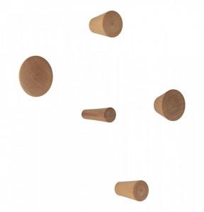 Set 5 agatatori maro din lemn de fag Ancona House Nordic
