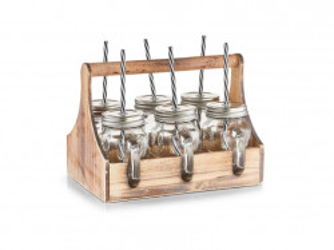 Set 6 cani cu capac si suport 450 ml Drinking Glasses Maxi Zeller