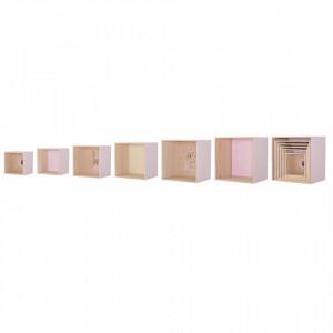 Set 6 rafturi roz din lemn de paulownia Rolana Bloomingville