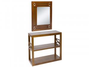 Set consola si oglinda din lemn de mindi Forest Hall Santiago Pons