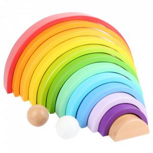 Set de construit 24 piese multicolore din lemn de fag si MDF Building Small Foot