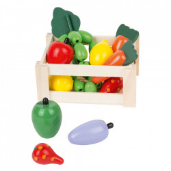 Set de joaca 11 piese din lemn de tei Vegetable Box Small Foot