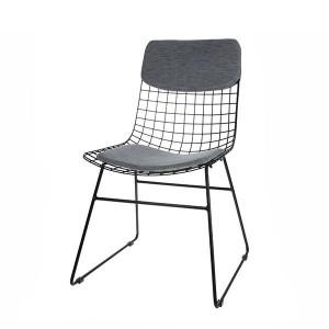 Set perne bumbac gri pentru sezut si spatar scaun HK Living