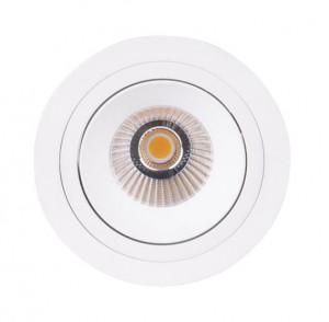 Spot alb din plastic si metal Hiden Maxlight
