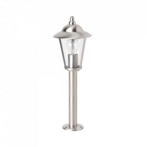 Stalp de iluminat argintiu din metal si plastic pentru exterior 50 cm Neil Brilliant