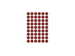 Sticker rosu pentru perete Mini Dots Red Ferm Living