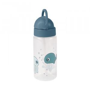 Sticla pentru apa albastra din polipropilena si silicon 350 ml Friends Done by Deer