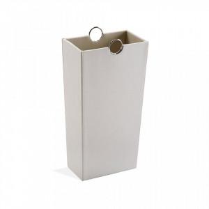 Suport alb din piele pentru umbrela 53 cm Umbrella Stand White Versa Home